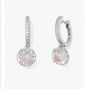 Kate Spade That Sparkle Pave Huggies Earrings